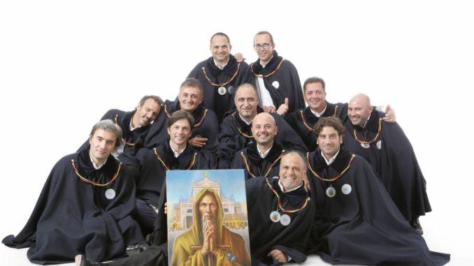 Priori Serventi 2017 Piatto Sant'Antonio la presentazione alla Domus Pacis