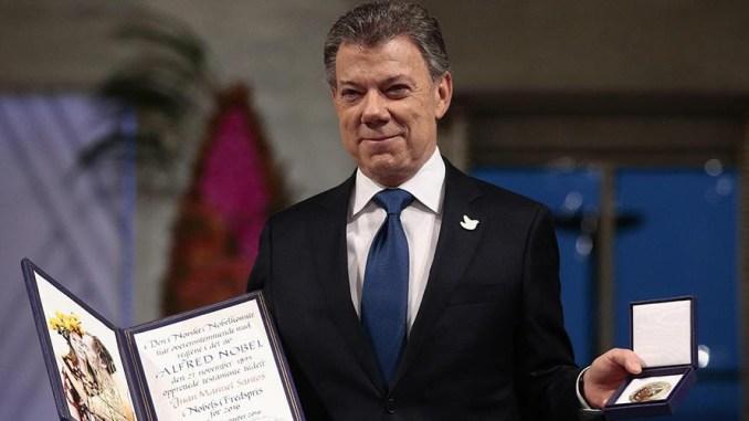 Il premio Nobel per la pace, Juan Manuel Santos, per concerto di Natale