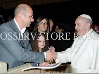 Notai cattolici da Papa Francesco insieme al vescovo di Assisi