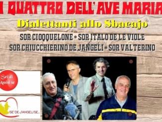 """Sei di Assisi se"""" & """"Sè de J'angeli se"""" insieme per spettacolo di beneficenza al Cenacolo"""