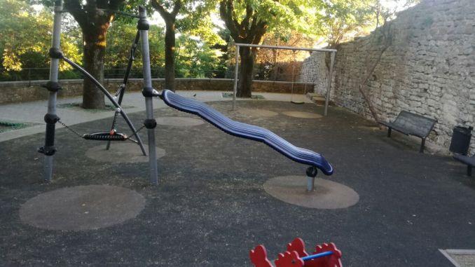Parco giochi di Porta Nuova, versa in condizioni pietose