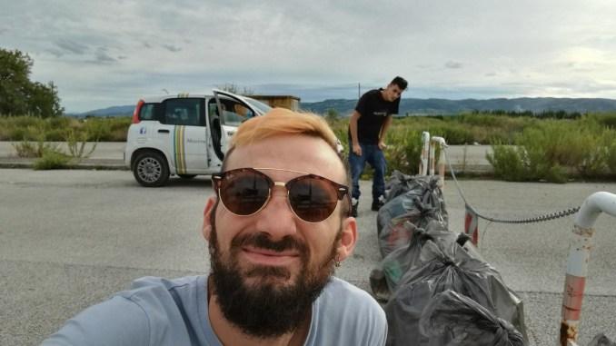 Alex Trabalza continua la sua battaglia contro il degrado, rifiuti di ogni tipo