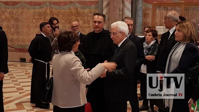 Ventennale Sisma, Sergio Mattarella ad Assisi, ha incontrato familiari vittime [FOTO]