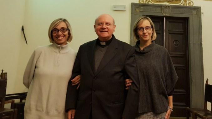 Le nipoti di Bartali in visita al vescovado di Assisi