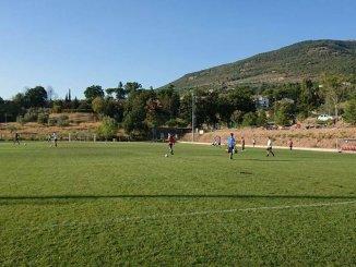 Derby di calcio Acd Assisi e Acd Viole allo stadio degli Ulvivi
