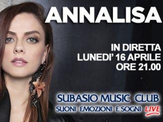 Subasio Music Club, 16 aprile ad Assisi arriva Annalisa