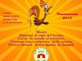 Cena del Gallicinio, il Rione Ponte Rosso festeggia l'inizio de J'Angeli 800