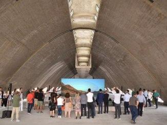 Universo Assisi inaugurata edizione 2018 alla ex Montedison installazione Trevisani