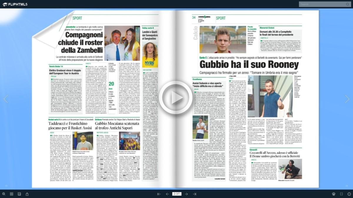 Audio rassegna stampa di Assisi e territori, sfoglia le pagine