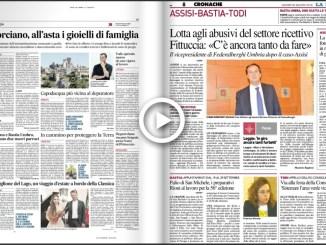 Video Rassegna stampa di Assisi e Bastia Umbra del 30 agosto 2018