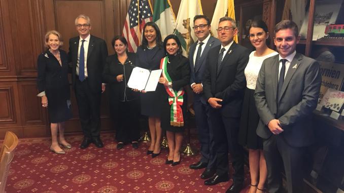 Presentazione 5 luglio anniversario gemellaggio Assisi San Francisco