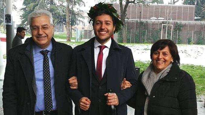 Neo dottore, Michele Migliosi, 110 e lode all'Università di Bologna