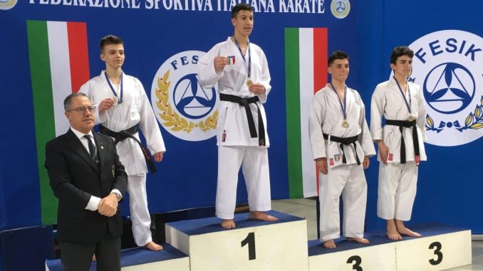 Karate, strepitoso Manuel Panunzi ai vertici sia nel kata che nel kumite!