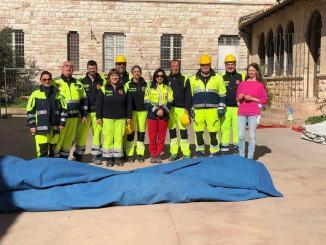 Lezione di protezione civile al liceo Classico Properzio di Assisi