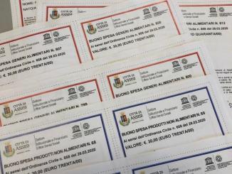 Buoni spesa a 295 famiglie, in difficoltàda covid 19, consegnati a prociv