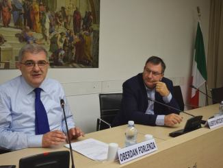 Da sx il Consigliere di Stato, Oberdan Forlenza, e Alberto Naticchioni, Amministratore Unico e responsabile scientifico della Scuola Umbra di Amministrazione Pubblica