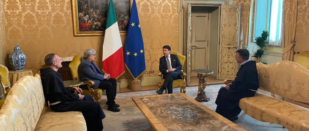 Presidente consiglio incontra Frati Assisi a palazzo Chigi