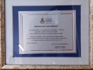 Usl Umbria 1, la comunità assisana ringrazia l'ospedale