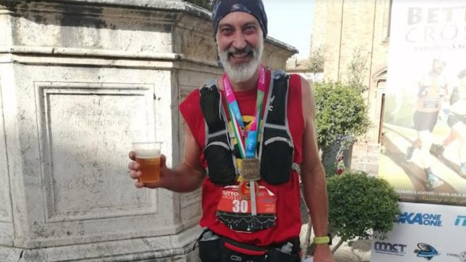 Stefano Volpi, Assisi Runners,200 maratone concluse