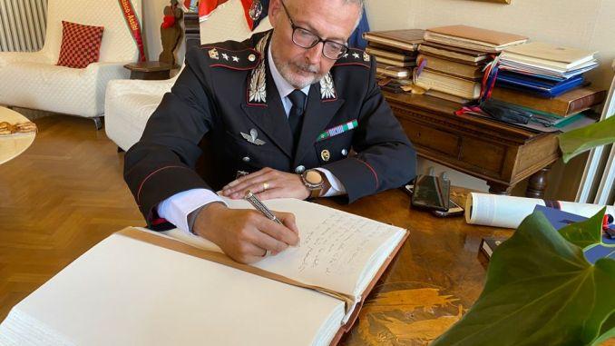 Encomio solenne al tenente colonnello Marco Vetrulli, dalla Amministrazione