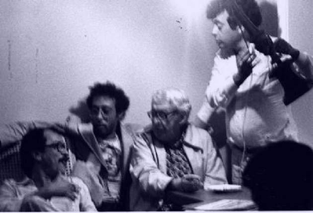 João Ubaldo Ribeiro, Jards Macalé, Alberto Cavalcanti e Glauber Rocha, em 1979.