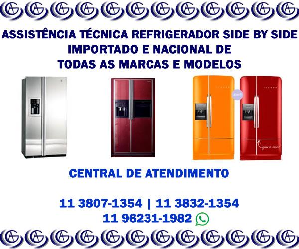 Assistência técnica refrigerador side by side