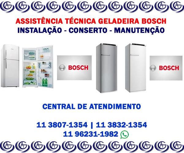 Assistência técnica geladeira Bosch