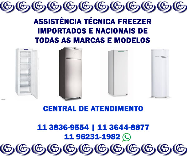 assistência técnica freezer importado e nacional
