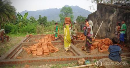 Gospel for Asia Builds New Cement Home for Indian Widow and her Daughter whose House was Destroyed by 2013 Cyclone Phailin