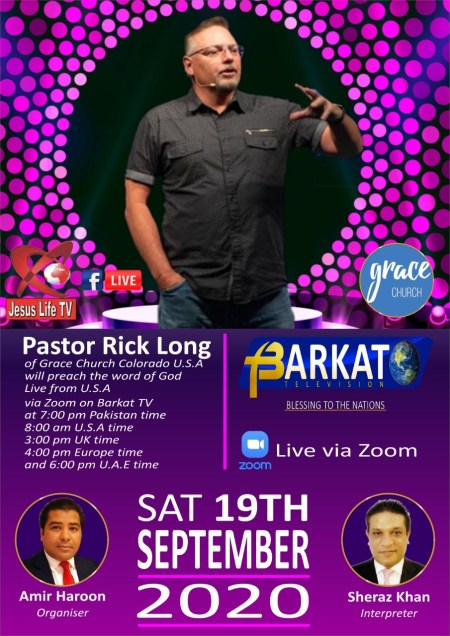 Barkat TV Broadcasts American Pastor's Sermon Live to Church in Pakistan