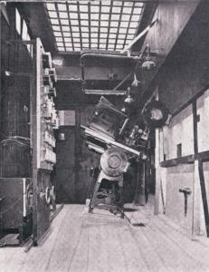 Théâtre Pigalle Paris 1929  Cabine cinématographique