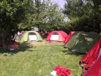 Installation des tentes