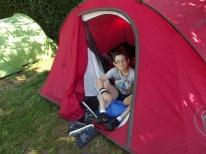 Camp Super-Sympa 2014 - Le plaisir d'être sous la tente avec les copains