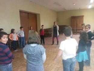 L'atelier musique au Foyer Rural d'Azé.