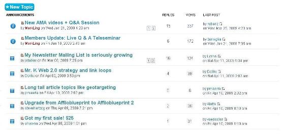 AffiloBlueprint Members Forum