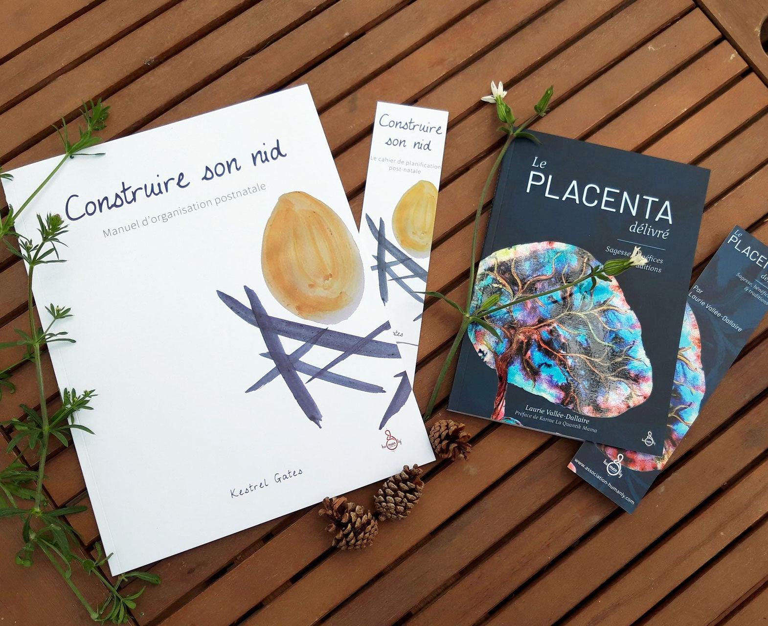 couvertures des livres sur le placenta et le postnatale