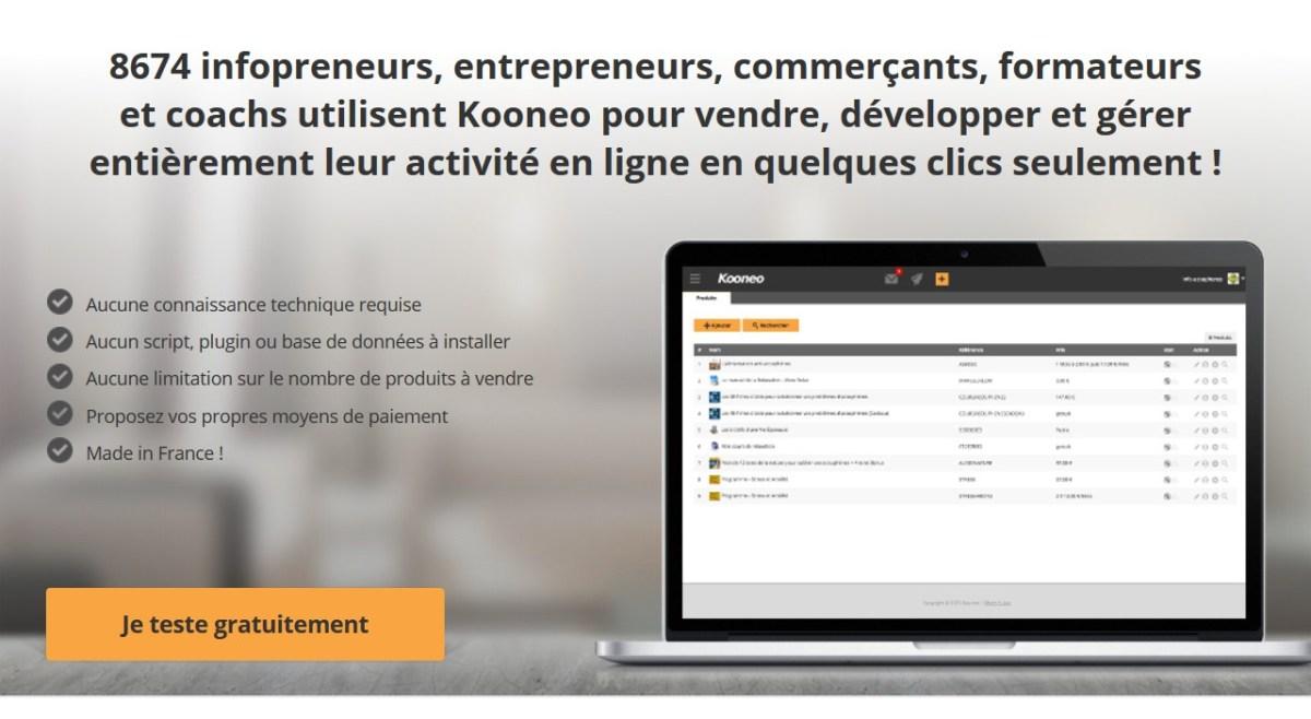 Kooneo script pour vendre en ligne