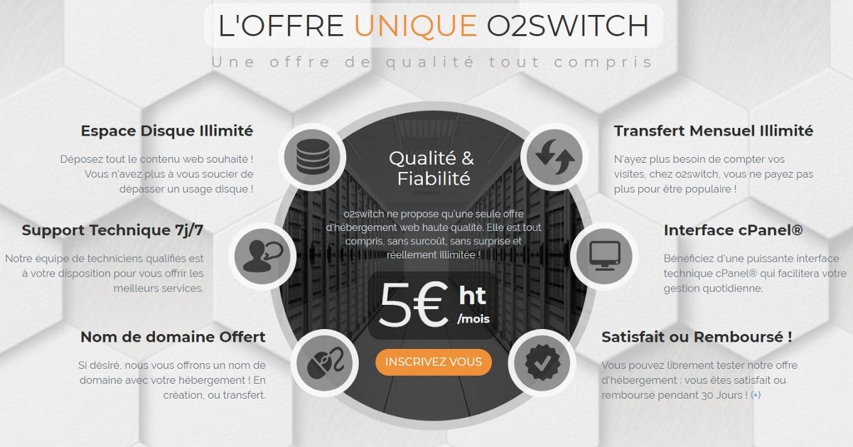 O2Switch meilleur hébergeur français