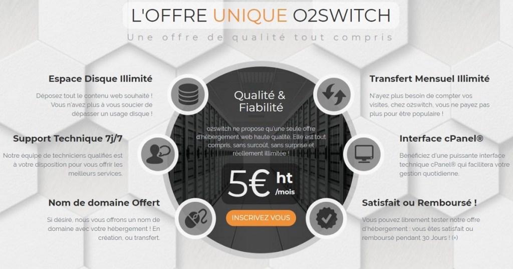 o2switch leur offre gratuite