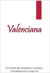 Valenciana, estudios de filosofía y letras