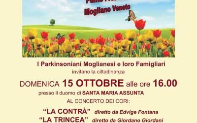 Domenica 15 Ottobre, ore 16, concerto a favore dei malati di Parkinson e Alzheimer