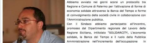 """Dal sito Palermomania.it """"Banca del Tempo. Anche a Palermo verso struttura di coordinamento"""""""