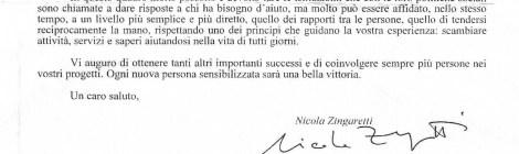 Un saluto da Nicola Zingaretti, presidente della Regione Lazio