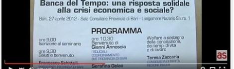 """Servizio a cura della testata giornalistica di Antenna Sud """"Convegno nazionale Associazione Banche del Tempo"""""""