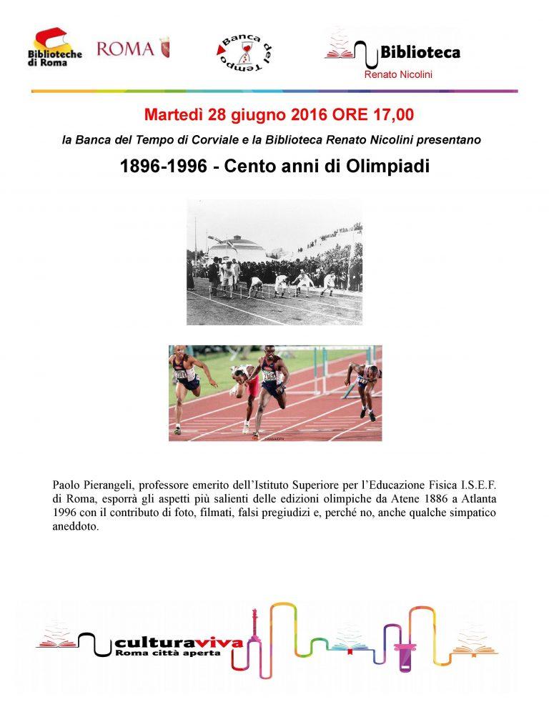 1896-1996 Cento anni di Olimpiadi BdT