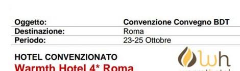 Hotel convenzionato per il convegno che si terrà il 24 ottobre 2016 a Roma
