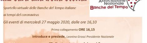 Sportello delle BdT italiane ai tempi del coronavirus - programma del 27 maggio 2020