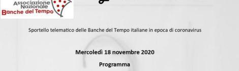 Sportello telematico delle BdT italiane - programma del 16 novembre 2020