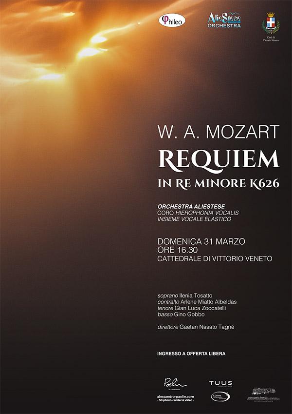 Manifesto per il Requiem di Mozart a Vittorio Veneto il 31 marzo 2019
