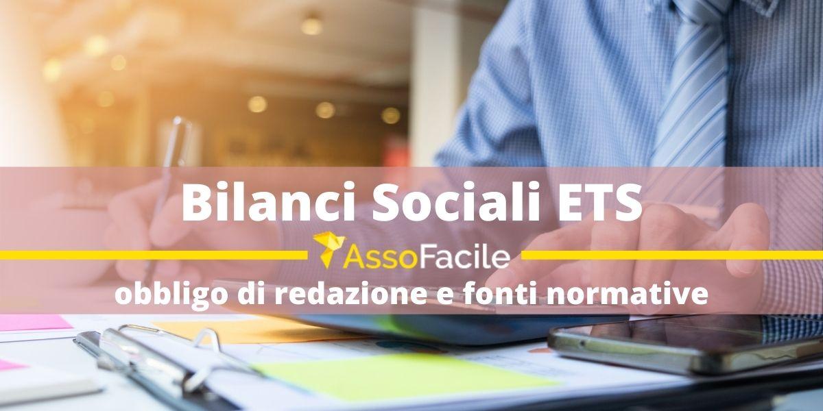 Bilancio sociale terzo settore: obbligo di redazione fonti normative alla base del bilancio degli ETS.